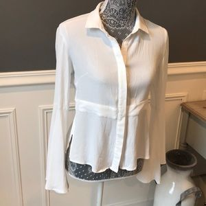 DO+BE Button Up  Collared Blouse